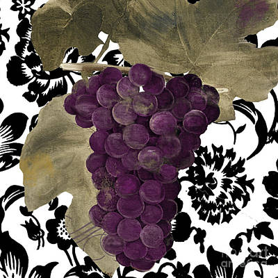 Purple Grapes Painting - Grapes Suzette by Mindy Sommers