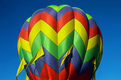 Graphic Hot Air Balloon Print by Garry Gay