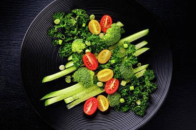 Graphically Salad Print by Eduard Kraft