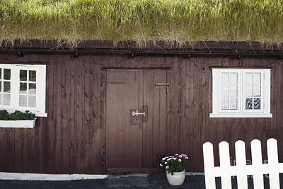 Coast Photograph - Grass-roofed House In Faroe Islands by Dani Prints and Images