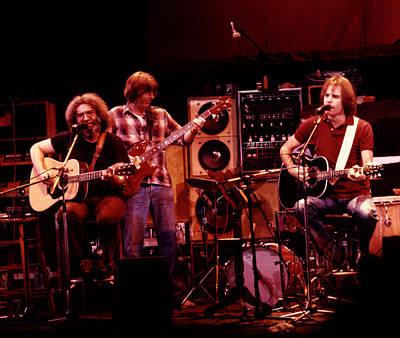 Music Concert Photograph - Grateful Dead Acoustic 1980 by Steven Sachs
