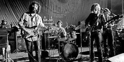 Jerry Garcia Band Digital Art - Grateful Dead In Concert - San Francisco 1969 by Dan Haraga