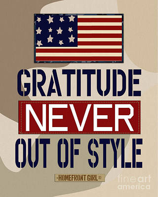 Gratitude Never Out Of Style Print by Gaby Juergens