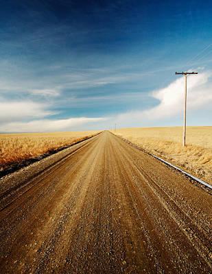 Vanish Photograph - Gravel Lines by Todd Klassy