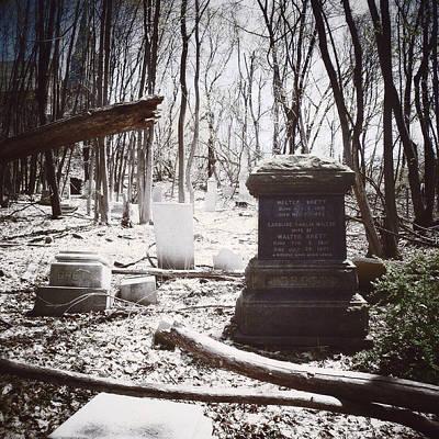 Gravestones Of Dutchess County Print by Natasha Marco