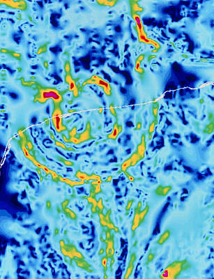 Dinosaur Map Photograph - Gravity Map Showing Chicxulub Crater, Yucatan by Geological Survey Of Canada