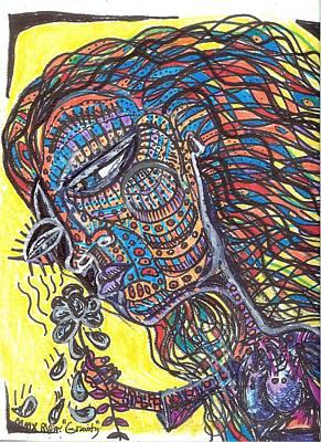 Folk Art Mixed Media - Gravity by Robert Wolverton Jr