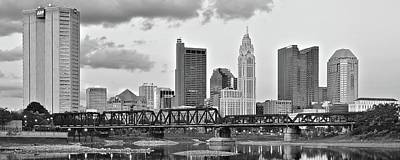 Photograph - Gray Columbus Pano by Frozen in Time Fine Art Photography
