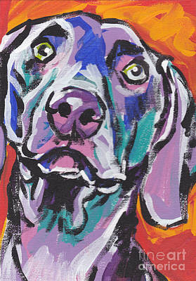 Dog Portrait Painting - Gray Ghost by Lea S