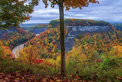 Horizontal Photograph - Great Bend Fall by Mark Papke