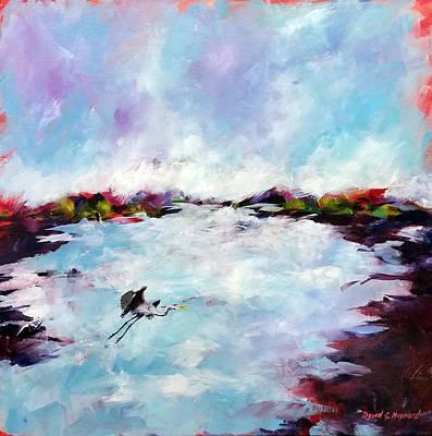 Painting - Great Blue by David  Maynard
