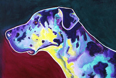 Great Dane - Boz Print by Alicia VanNoy Call