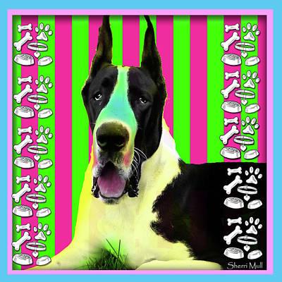 Great Dane Pop Art  Original by Sherri Mull