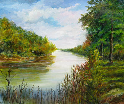 Dee Painting - Great Pee Dee River Sold by Gloria Turner