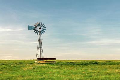 Ranching Photograph - Great Plains Windmill by Todd Klassy
