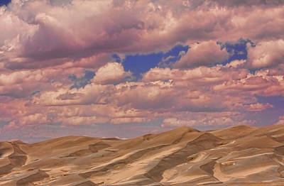 Great Sand Dunes And Great Clouds Print by James BO  Insogna