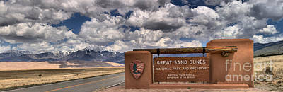 Great Sand Dunes Entrance Print by Adam Jewell