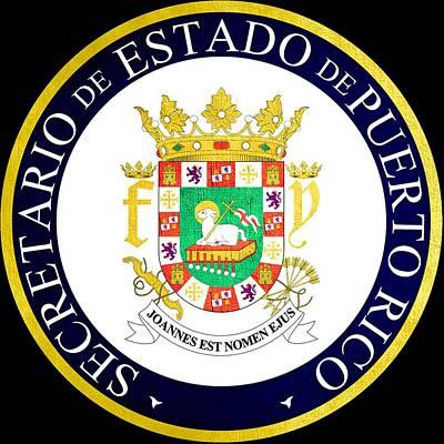 Hallmark Photograph - Great Seal Of Puerto Rico by Mountain Dreams