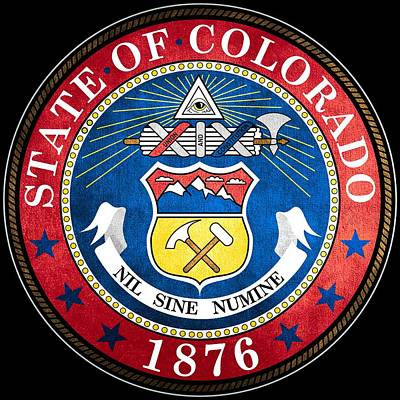 Hallmark Photograph - Great Seal Of The State Of Colorado by Mountain Dreams