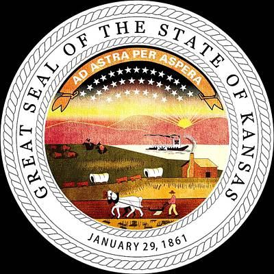 Hallmark Photograph - Great Seal Of The State Of Kansas by Mountain Dreams
