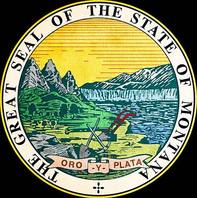 Hallmark Photograph - Great Seal Of The State Of Montana by Mountain Dreams