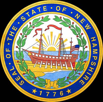Hallmark Photograph - Great Seal Of The State Of New Hampshire by Mountain Dreams