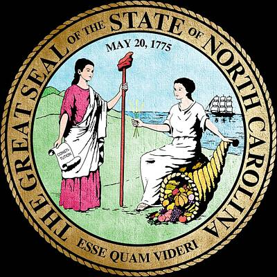 Hallmark Photograph - Great Seal Of The State Of North Carolina by Mountain Dreams