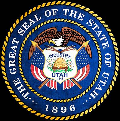 Hallmark Photograph - Great Seal Of The State Of Utah by Mountain Dreams