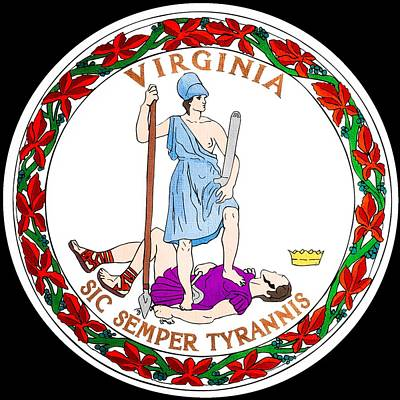 Hallmark Photograph - Great Seal Of The State Of Virginia by Mountain Dreams