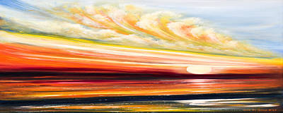 Great Spirit - Panoramic Sunset Print by Gina De Gorna