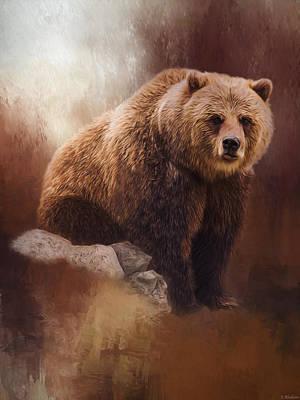 Jordan Painting - Great Strength - Grizzly Bear Art by Jordan Blackstone