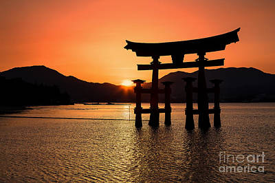 Great Torii Sunset- Miyajima  Print by Rhonda Krause