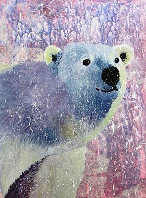 Representative Abstract Mixed Media - Great White Bear by David Raderstorf