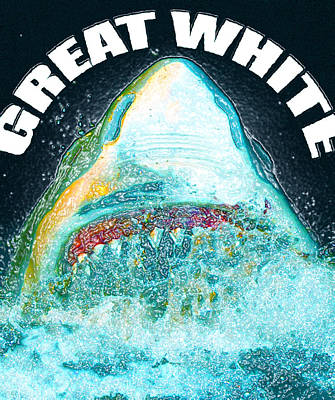 Great White Print by David Lee Thompson