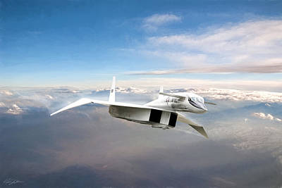 Prototype Digital Art - Great White Hope Xb-70 by Peter Chilelli