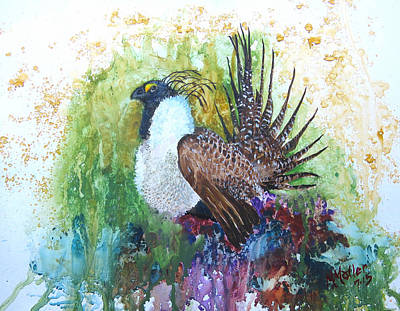 Greater Sage Grouse Original by Marcus Moller