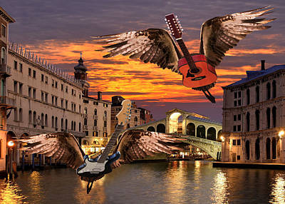 Flying Guitars Digital Art - Greatest Love Of All by Eric Kempson