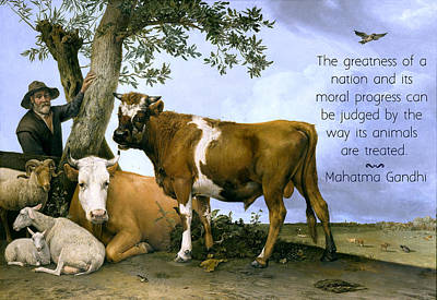 Greatness Of A Nation Print by Ruth Moratz