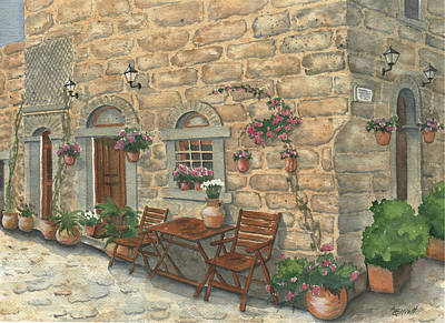 Grecian Charm Print by Marsha Elliott