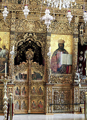 Religious Artist Photograph - Greek Orthodox Alter by John Rizzuto