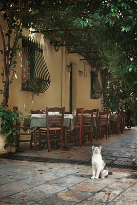 Greek Photograph - Greek Streets - Corfu by Cambion Art