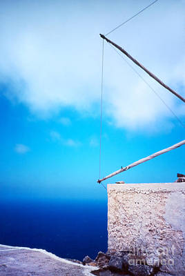 Sea View Photograph - Greek Windmill by Silvia Ganora