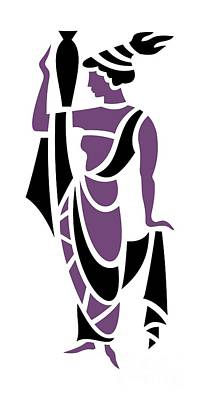 Purple Grapes Digital Art - Greek Woman In Purple by Donna Mibus