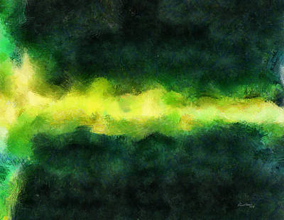 Green Abstract Print by Russ Harris