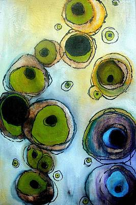 Green And Blue Print by Lizzie  Johnson