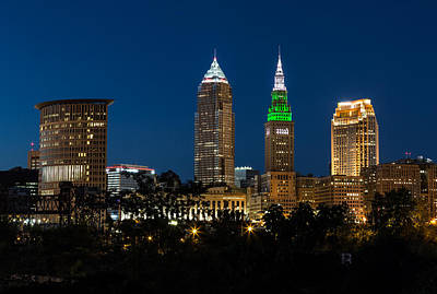 Csu Photograph - Green And Grey In Cleveland Ohio by Dale Kincaid