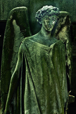 Green Angel Print by Harry Spitz