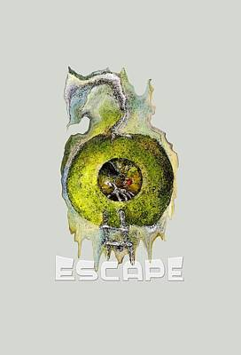 Liberation Digital Art - Green Apple Red Apple Still An Apple Escape by Art by Ela
