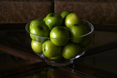 Green Apples Print by Michael Ledray