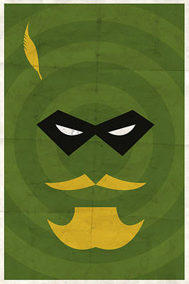 Comic Books Digital Art - Green Arrow by Michael Myers
